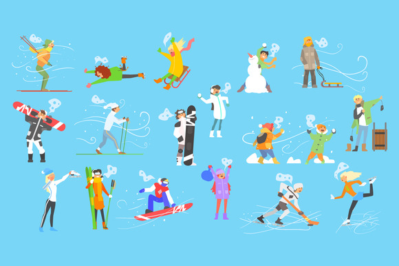 Winter Sports And Activities People