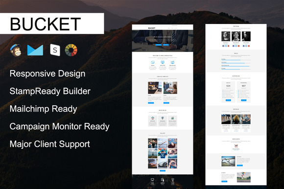 BUCKET Responsive Email Template