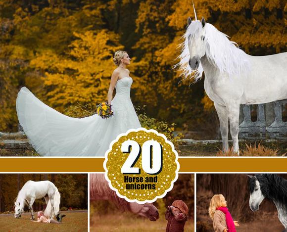 20 Majestic Unicorn Horse Pegasus