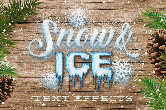 Snow Ice Text Effects