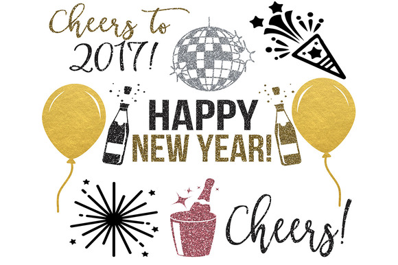 New Years Clipart PNG JPEG SVG