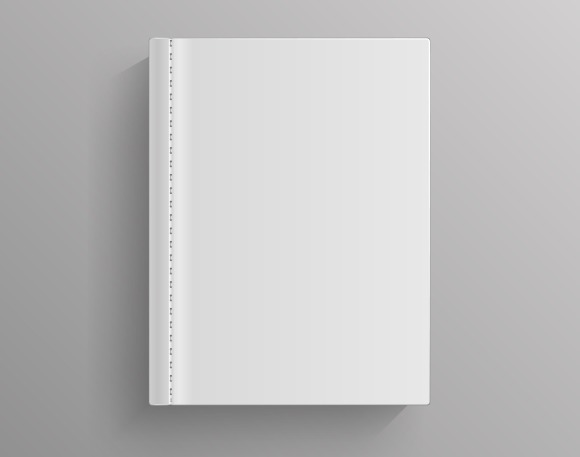 White Blank Book Cover