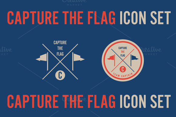 Capture The Flag Icon Set