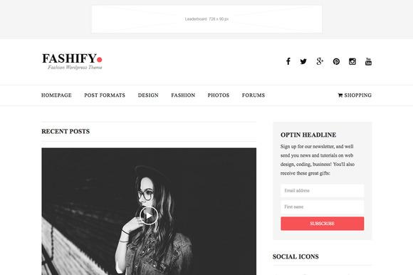 Fashify Fashion Wordpress Theme