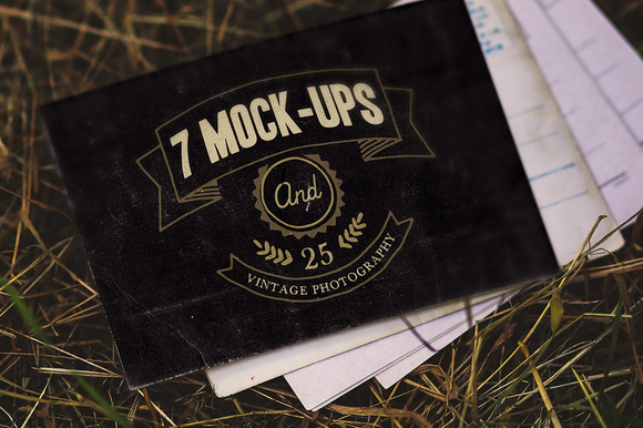 7 Vintage Mock-ups 25 Photos