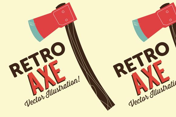 Retro Axe Illustration