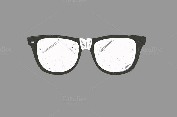 Retro Distressed Nerdy Glasses