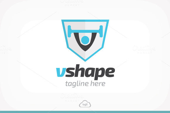 Vshape Gym Logo Template