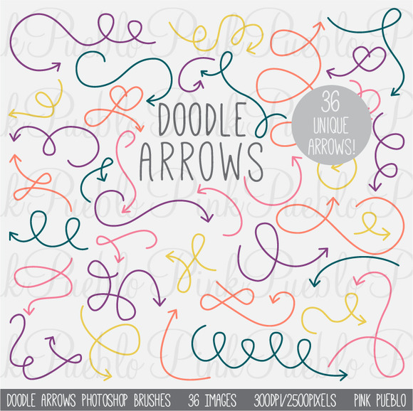 Doodle Arrows Photoshop Brushes