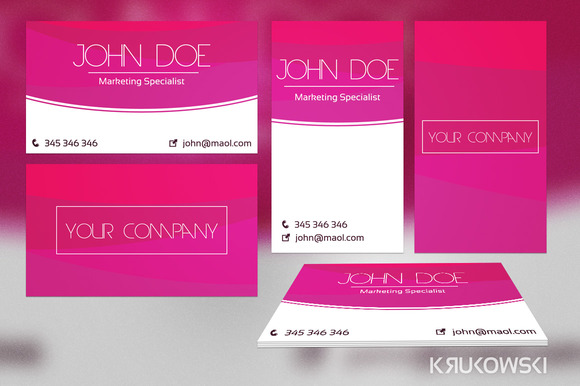 Violet Business Card Template