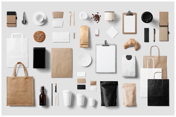 Coffee Stationery Branding Mock-Up