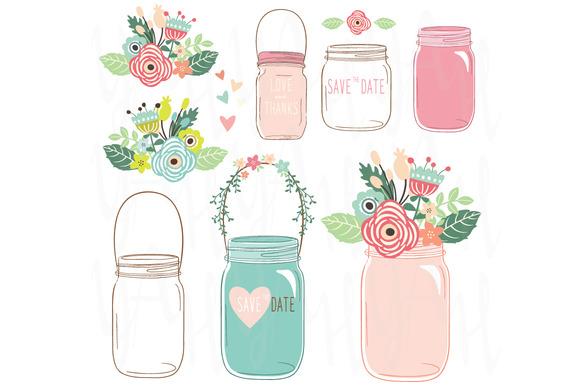 Wedding Flower Mason Jar