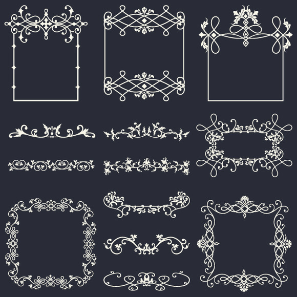 Flourish Frame Vector Pack