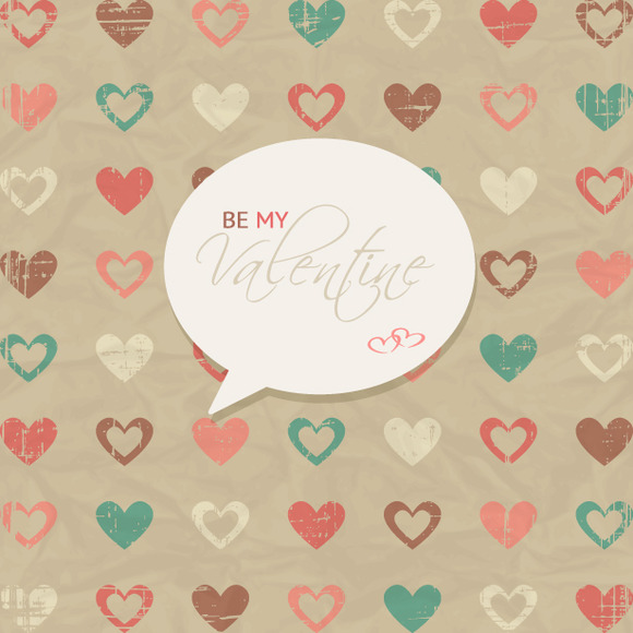 Grungy Valentine S Day Vector