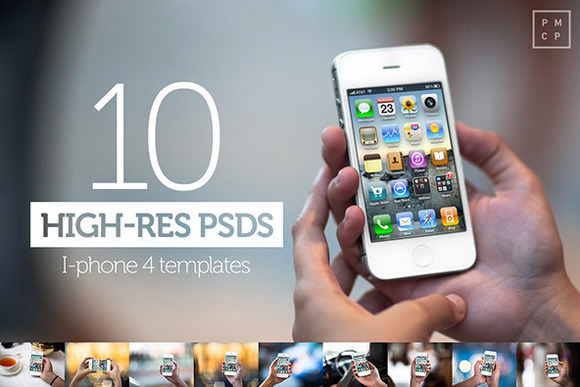 10 IPhone4s PSD Mock Ups