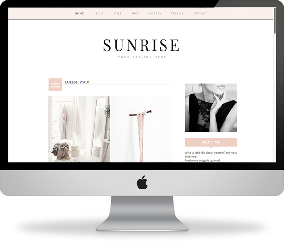 Sunrise Premade Blogger Template