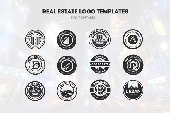 12 Real Estate Business Logos