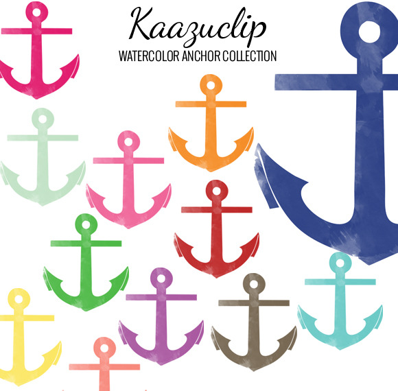 Watercolor Anchor Collection