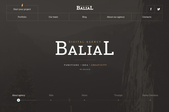 Balial PSD Portfolio Theme