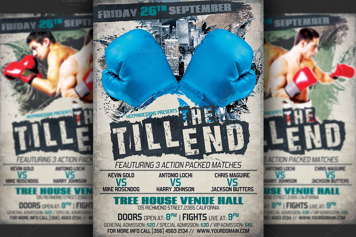 free boxing poster templates for word