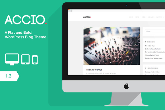 Accio Flat WordPress Blog Theme