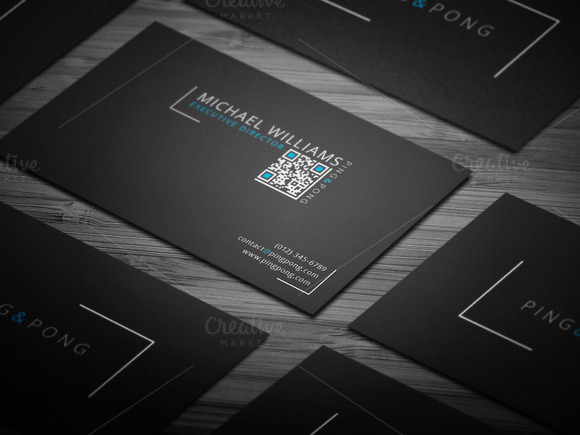 Fonts Shapes Business Card
