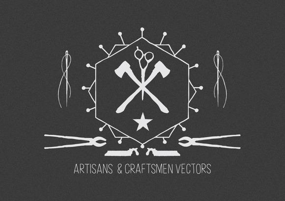 Artisans Craftsmen Vector Bundle