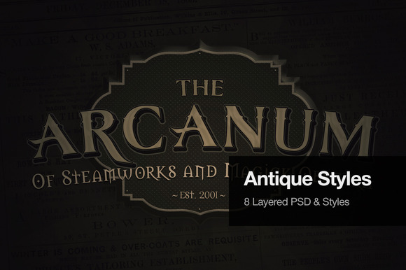 Antique Text Effects
