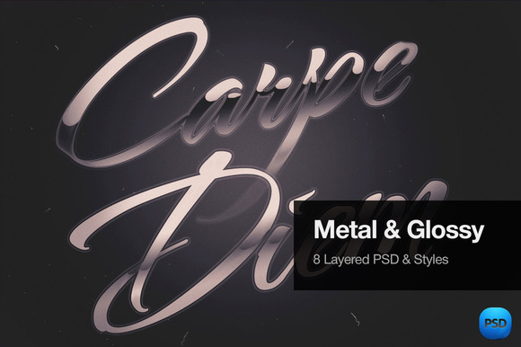Metal Glossy Text Effects