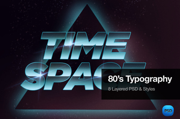 80 S Typography Text Effects