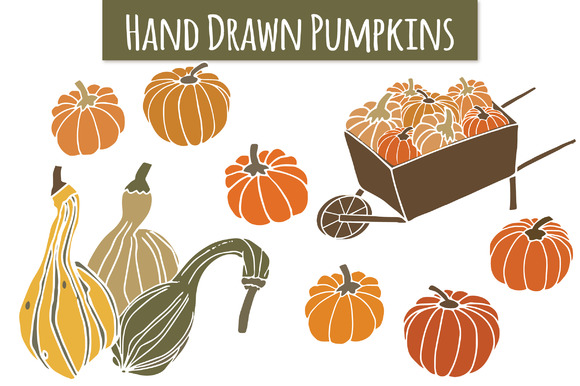 Pumpkins Gourds Clip Art