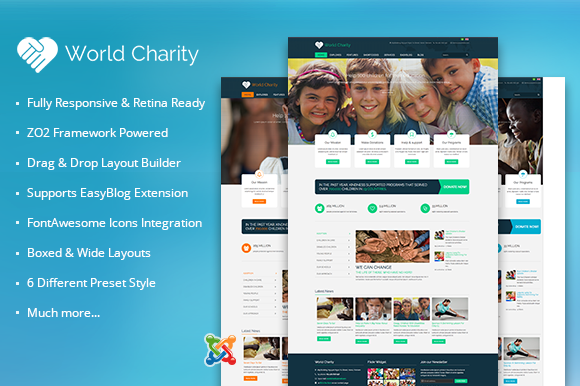 ZT Charity Responsive Joomla Theme