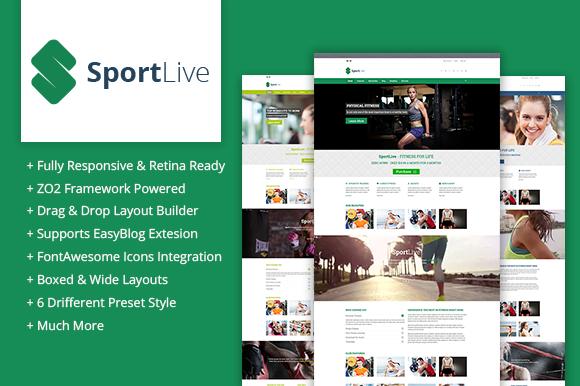 ZT SportLive Responsive Theme