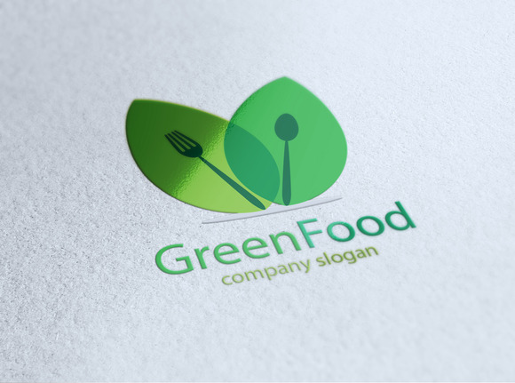 Green Food Logo