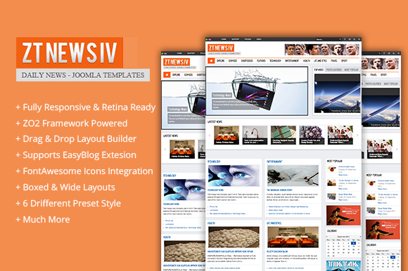 ZT News 4 Magazine Joomla Theme
