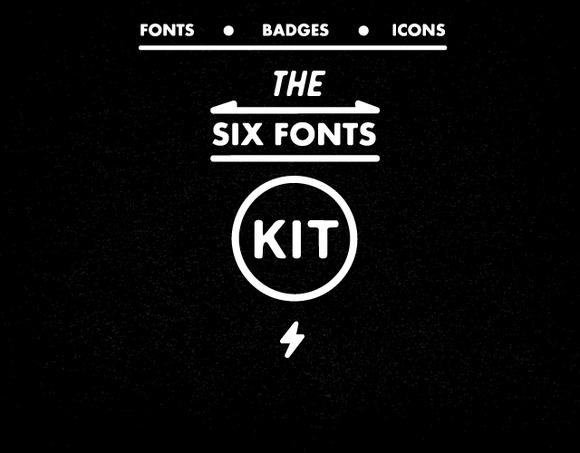 Six Fonts Kit