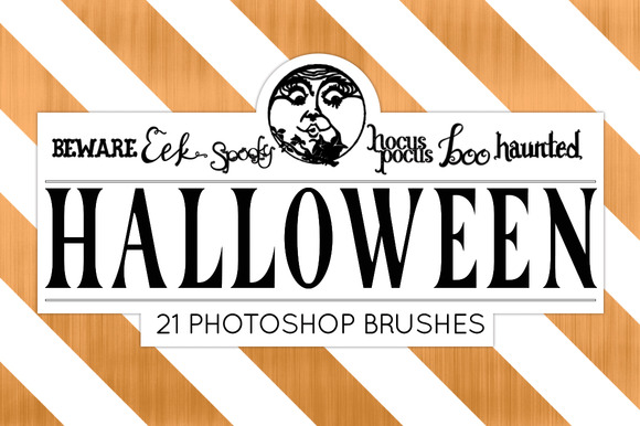 Halloween Photoshop Brush Pack