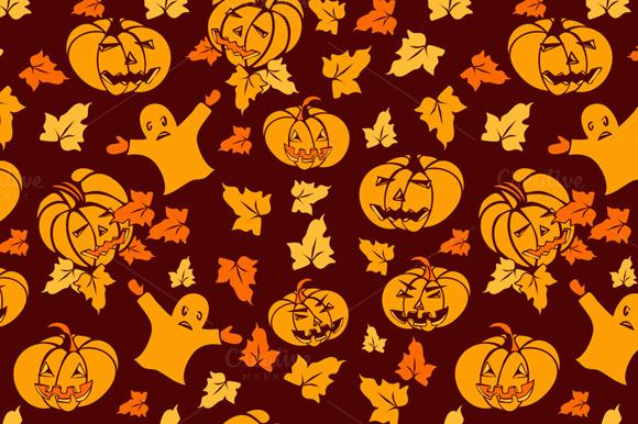 Halloween Seamless Cartoon Pattern