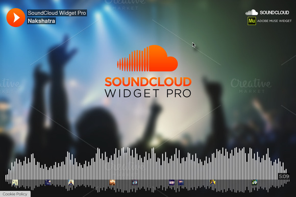 SoundCloud Widget PRO Muse Widget