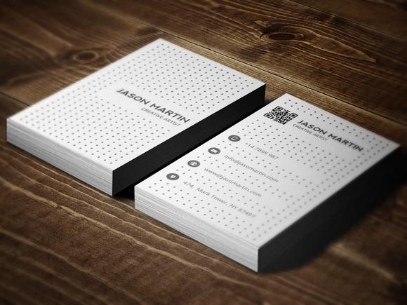 Dark Light Dotted Business Card