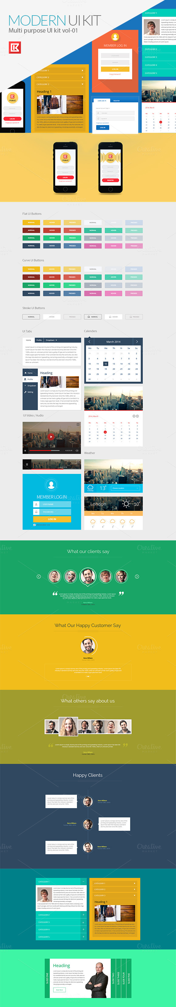 Multi Purpose UI Kit Vol-01