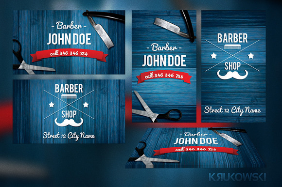 Business Card Template » Barber Business Card Template - Free Card ...