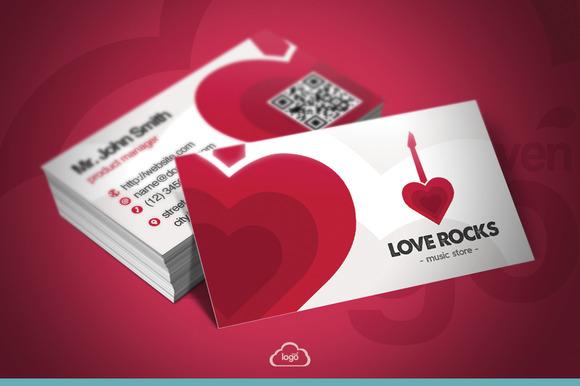 Love Rocks Business Card