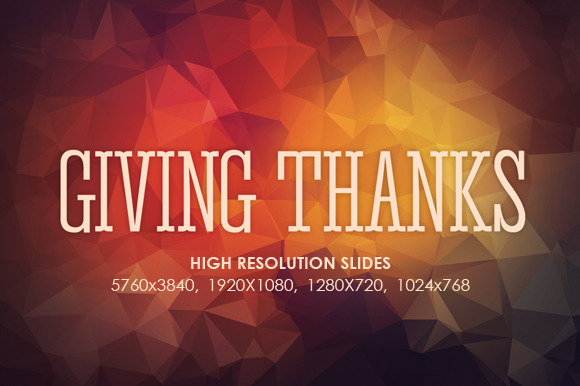 Giving Thanks Screen Slides