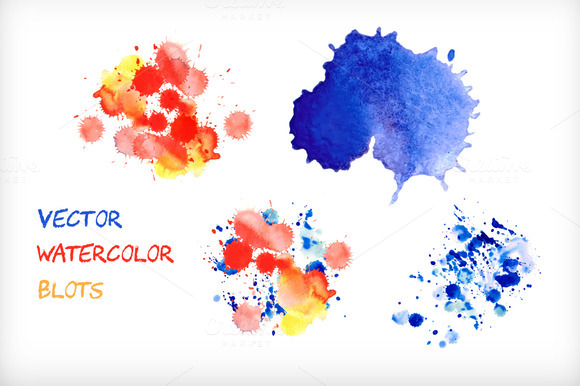 Vector Watercolor Blots