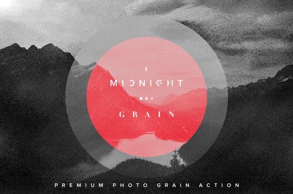 Midnight Grain Photo Grain Action