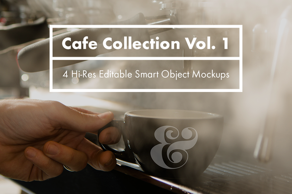 Cafe Collection Vol 1 PSD Mockups