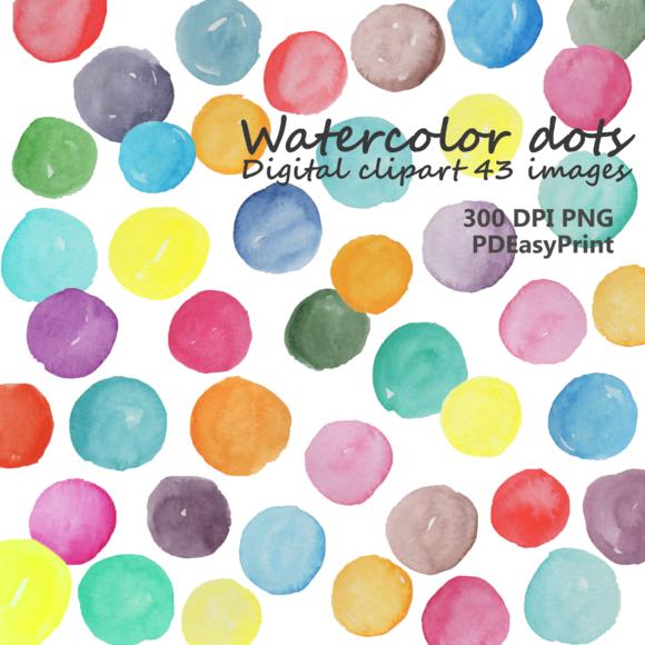 Watercolor Dot Clipart Dots Clipart