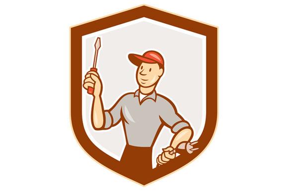 Electrician Screwdriver Plug Shield