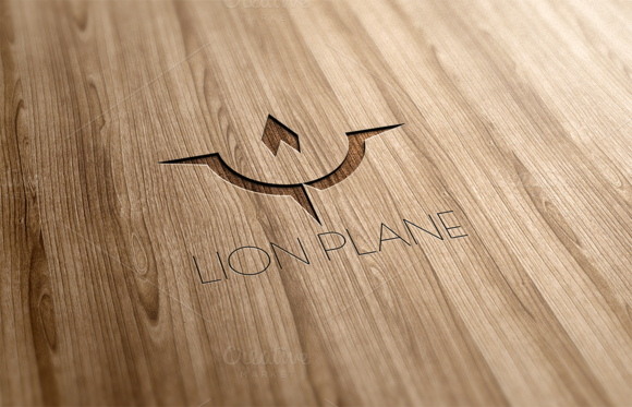 Lion Plane Logo Design